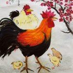 'Hen, rooster, chicks' - Dennis Liew